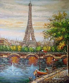 diamond embroidery diy diamond Painting scenic pictures diamond mosaic Needlework diamond picture home decor canvas gift Torre Effiel, Paris Torre Eiffel, Paris Eiffel Tower, Tour Eiffel, Paris Kunst, Paris Art, Eiffel Tower Painting, Paris Painting, Oil Painting Pictures