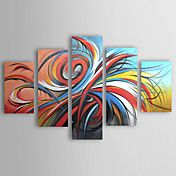 Hand-painted Abstract Oil Painting  with Stre... – USD $ 119.99