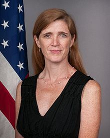 SAMANTHA POWER Ambassador to the United Nations, Human Rights Advocate and author. http://ht.ly/xOB62. Harvard Law, Yale,  #63 on Forbes list of Power Women and 14 Power Women under the age of 45.