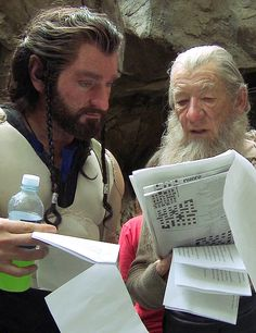 Thorin Oakenshield and Gandalf the Grey...with the daily crosswords...