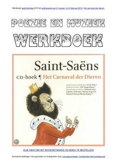 Poezie en muziek werkboek over het carnaval der dieren van schoolgooc…