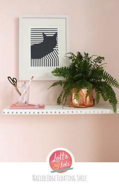 DIY - Nailed Edge Floating Shelf