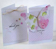 Pink Petticoat : One Sheet Wonder 'Thank You' Cards - Part One