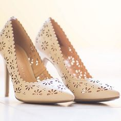 majorly crushing on these floral cutout heels from #LCLaurenConrad for Kohl's