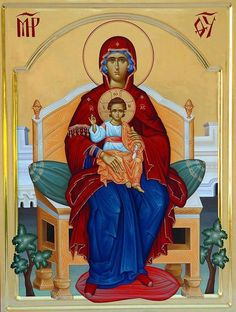 Religious Pictures, Religious Icons, Religious Art, Mother Mary, Mother And Child, Mama Mary, Byzantine Icons, John The Baptist, Gold Work