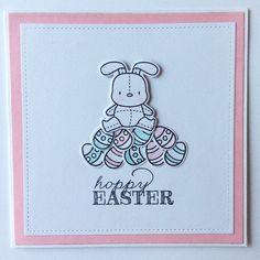 Paaskaartje roze, mama elephant Honey Bunny, april 2015