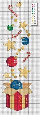noël - navidad - regalo - point de croix - punto de cruz - Blog: http://broderiemimie44.canalblog.com/: