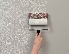 Patterned paint rollers.
