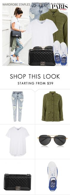"""""""2250. Blogger Style: Hello Fashion"""" by chocolatepumma ❤ liked on Polyvore featuring Oris, H&M, River Island, Topshop, Iris & Ink, The Row, Chanel and Puma"""