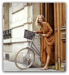 That bike. Kiberlain, French Actress in Paris, France