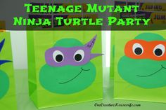 Teenage Mutant Ninja Turtle Party {Part 3 The Favors}