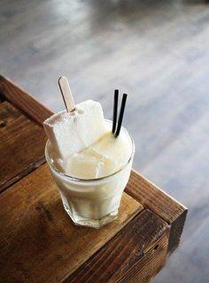 The Painchiller, A Mezcal Painkiller Riff - Imbibe Magazine Mezcal Cocktails, Summer Cocktails, Cocktail Drinks, Cocktail Recipes, Alcoholic Drinks, Cocktail Ideas, Margarita Recipes, Beverages, The Bottle Rockets