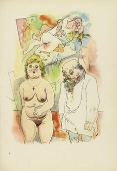 George Grosz: Plate V from Ecce Homo, illustrated book with 100 offset lithographs 1915-22