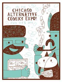 chicago alternative comics expo - 495×660