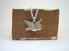 {Little Barn Owl Necklace} by marmar.  I MUST HAVE THIS!