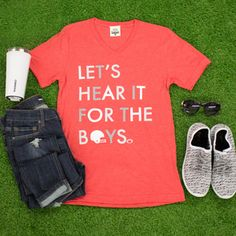 Let's Hear It For The Boys Tee Red