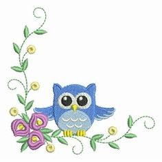 Baby Owls 3, 10 - 4x4 | What's New | Machine Embroidery Designs | SWAKembroidery.com Ace Points Embroidery