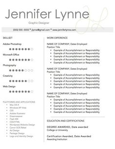 Graphic Resume Sample For Illustration Artist  Graphic Design