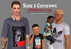 My Sims 3 Blog: Sims 2 Cornrows Converted by Mochasims