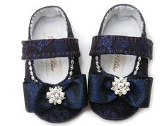 Baby Girl Shoe Flower Girl Shoes Christening by Pink2Blue on Etsy, $52.00