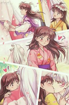 Inuyasha Funny, Rin And Sesshomaru, Inuyasha And Sesshomaru, Inuyasha Fan Art, Kagome Higurashi, Otaku Anime, Anime Manga, Netflix Anime, Manga Couple