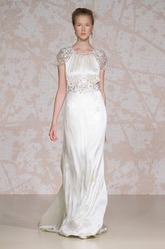 A #wedding dress with short sleeves from Jenny Packham, Spring 2011