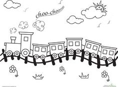Bubakids Worksheets: Choo-Choo Train Coloring Page for preschool, kindergarten and elementary school children to print and color. Train Coloring Pages, Colouring Pages, Coloring Sheets, Adult Coloring, Coloring Books, Coloring Worksheets, Mandala Coloring, Art For Kids, Crafts For Kids