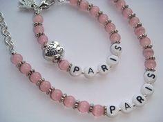 Kids Custom Personalised NAME BEST FRIEND Bracelet by BellaAniela #kidsatheart  #girlsbracelet