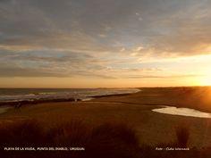 PLAYA DE LA VIUDA em Punta del Diablo. Foto : Cida Werneck