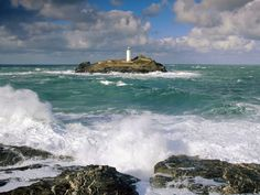 Lighthouse Photography | lighthouse and rough seas cornwall england wallpapers pictures photos ...