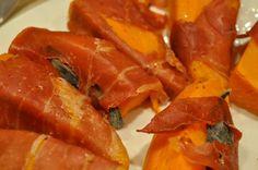 Prosciutto wrapped sweet potatoes