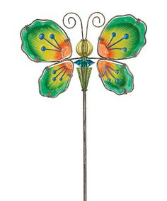 This Butterfly Glow Bead Garden Stake is perfect! #zulilyfinds