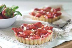 Gluten Free Dairy Free Strawberry Almond Tarts