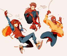 """""""some doodles of your friendly neighborhood spidey ✨ (feat. puma x bts)"""" Marvel Memes, Marvel Dc Comics, Marvel Avengers, Ms Marvel, Captain Marvel, Comic Character, Character Design, Spiderman Art, Spiderman Poses"""