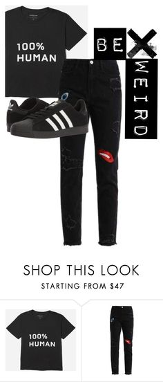 """""""be weird"""" by cg18 on Polyvore featuring adidas"""