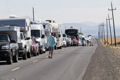 Monday's solar eclipse is already tying up traffic in areas along the path of totality, or the vein in regions along the US where people can see the full eclipse. Grand Teton National Park, National Parks, Eclipse Festival, Full Eclipse, Southern Illinois, Central Oregon, Once In A Lifetime, National Forest, Nebraska