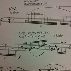 I like how the composer has subverted traditional musical instructions, and has created humour through a relatable simile. Band Nerd, Instruments, Albums Bts, Band Problems, Flute Problems, Music Jokes, Funny Music, Marching Band Memes, It's Over Now