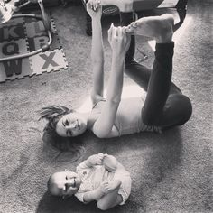 Happy Baby Pose. To relieve lower back tension after Wheel Pose in daily practice.