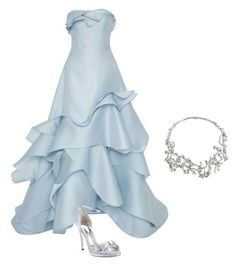 """""""Jellyfish dress."""" by sweetsovereign ❤ liked on Polyvore featuring Carolina Herrera, Nina and Alexander McQueen"""