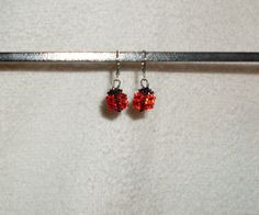 Tiny Ladybug Beaded Earrings by TheCraftyCuban on Etsy, $8.00