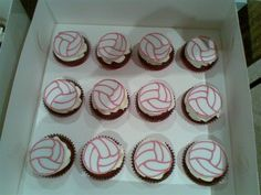 Cupcakes with Netball Fondant Topper