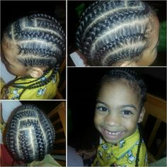 My Handsome Little Man. Little Boy Simple Braids