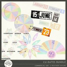 CU: Dates - Bundle   Design by Heather T.