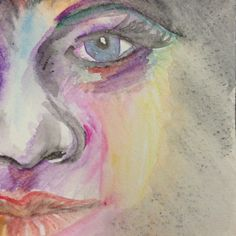 Face made with #derwent watersoluble artbars