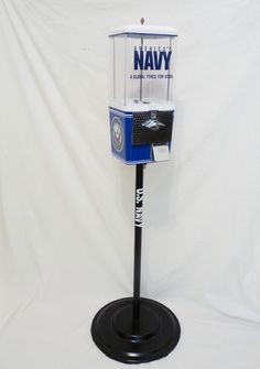 U.S Navy gumball / candy machine with stand