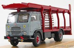 GILA MODELLI gi185-BS29 Scala 1/43  FIAT 643N TRUCK BISARCA CAR TRANSPORTER FERRARI GREY RED