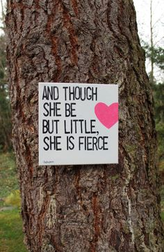 12x12 Shakespeare quote  though she be but little... by Houseof3, $32.00