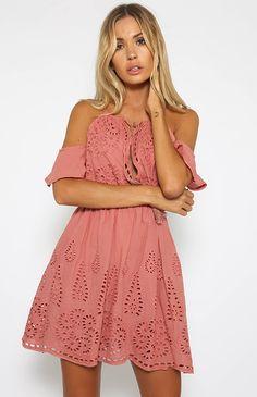 Santa Cruz Dress - Mauve | New Arrivals | Peppermayo