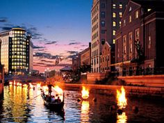 Downtown Providence Waterfire