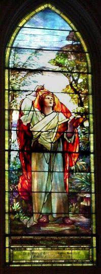 John, The Visionary, one of 11 Tiffany windows at Brown Memorial Church, Baltimore, MD